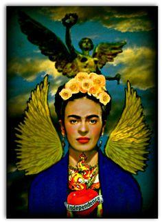 Frida Kahlo Angel of Independence Instant Digital by ARTDECADENCE
