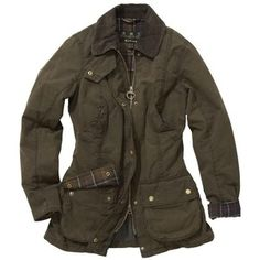 Womens Barbour Vintage Beadnell Waxed Jacket