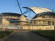* Estádio Algarve *  Inauguração: 1º/Janeiro/2004. Capacidade: 30.305 lugares. Equipes Atuantes: SC Farense; Louletano DC; Olhanense. Localização: Faro, Portugal.