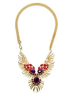 reminds me of a phoenix  Fenton Multi-Shape Feather Bib Necklace by Kendra Scott Jewelry