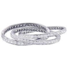 Sanjay Kasliwal Layered Diamond Ring (39.689.995 IDR) ❤ liked on Polyvore featuring jewelry, rings, silver, handcrafted jewelry, sparkle jewelry, handcrafted rings, 18k jewelry and diamond band ring