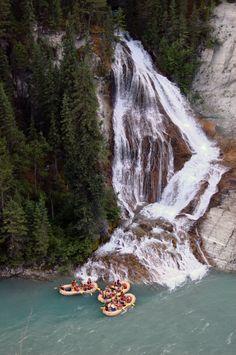 Rafting near Calgary Canada