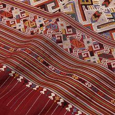 Handwoven Silk Lao Naga & Spirit Water Textile   DARA Artisans