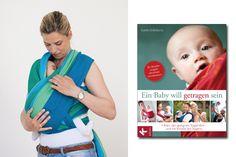 Tragetuch-Anleitung Wickelkreuztrage: Lesen Sie, was im letzten Schritt zu tun ist, damit Sie Ihr Baby sicher tragen können. © Kösel-Verlag
