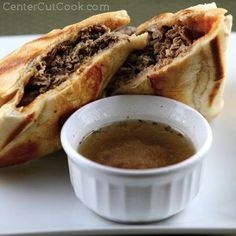 Everyday French dip sandwich. 1 pound shaved deli roast beef (or Italian Beef if…