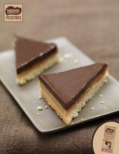 Triángulos de chocolate y caramelo