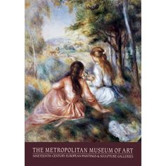 Pierre-Auguste Renoir 'The Meadow' 35-inch x 24-inch 1981 Poster