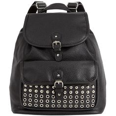 VIV Studded Backpack- Black Target Australia (£21) ❤ liked on Polyvore featuring bags, backpacks, accessories, mochilas, bolsa, pouch bag, backpack pouch, weekend bag, backpacks bags and studded backpack