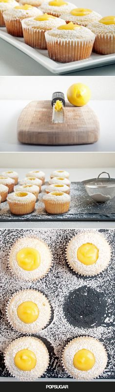 Pin for Later: Fall in love with these lemon-curd-laced cupcakes.