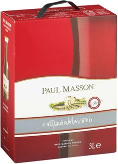 Paul Masson California Red Wine hanapakkaus - Tuotteet - Alko My Favorite Food, My Favorite Things, Different Wines, Red Wine, California, Bottle, Wood, Flask, Jars