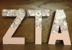 Custom ZTA letters