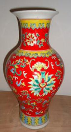 Chinese antique porcelain vase: red