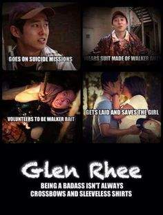 lol Whoever made this must be sick of Daryl fan girls. Glenn Rhee I hope he finds Maggie :-(