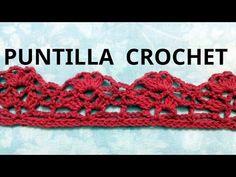 Puntilla N° 19 en tejido crochet tutorial paso a paso. - YouTube