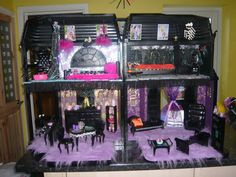Ooak custom Monster high themed house by luyelps on Etsy