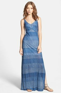 Splendid Textured Stripe Maxi Dress | Nordstrom