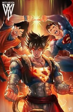 Dragon Ball Z - Superman & Goku Fusion Comic Manga, Anime Comics, Comic Art, Manga Anime, Dragonball Anime, Naruto, Kakashi, Anita Ekberg, Image Manga