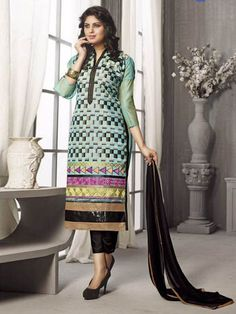 Make your summer #season this time more comfortable by #wearing this colorful  #cotton #dress.  Buy it online from www.suratdream.com