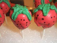 Strawberry-Shaped Cake Pops