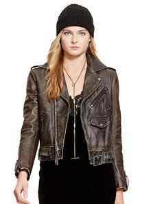 Distressed Leather Jacket | Ralph Lauren | Get up to 9.2% Cashback when you shop at RALPH LAUREN as a DubLi member! Not a member? Sign up for FREE today! www.downrightdealz.net