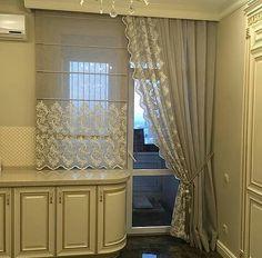 New Living Room Curtains Country Interior Design Ideas Kitchen Curtain Designs, Modern Kitchen Curtains, Window Curtain Designs, Modern Curtains, Country Interior Design, Luxury Interior Design, Cute Curtains, Drapes Curtains, Cuisines Design