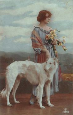 z- Borzoi & Woman w Flowers (2)