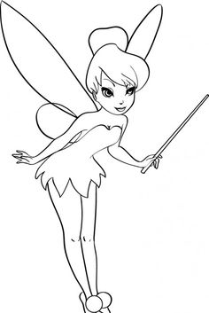 The Acting Cute Tinker Bell Coloring Page