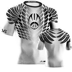 Hawk Style Compression Shirt - White Custom Football ea1a57a07
