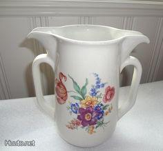 rare Arabia pitcher Finland, Retro Vintage, Pots, Porcelain, Ceramics, Glass, Pretty, Design, Ceramica