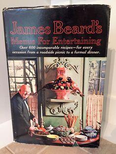 Beard Vintage Cookbook Menus Entertaining 1st Ed Dinner Party Cocktails James