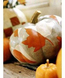 Pumpkin decor for fall weddings
