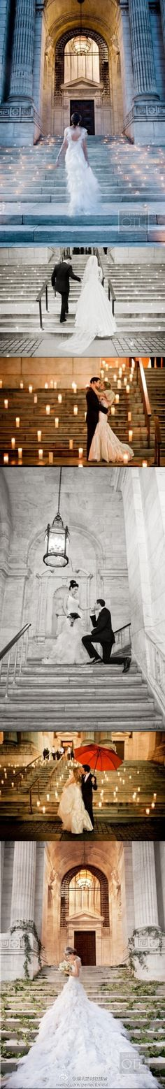 I would love to do this for my gothic theme wedding- the outside of the Distillery in TO