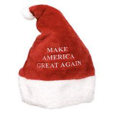 2b5e3423165 Super Plush Make America Great Again MAGA Embroidered Christmas Santa Claus  Hat