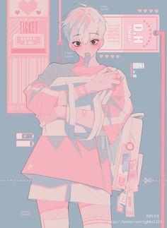 56 Ideas for cool art work draw Manga Kawaii, Kawaii Art, Anime Kunst, Anime Art, Pretty Art, Cute Art, Cute Anime Boy, Anime Boys, Boy Art