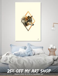 Discover «wolf», Numbered Edition Canvas Print by Sonda - From $49 - Curioos