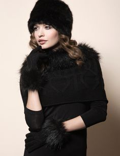 Pia Rossini Monroe Hat, Collar & Glove #FauxFur #Faux #Fur #RussianHat #Fashion #Accessories #Trend #AW13 #PiaRossini