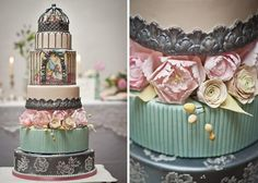 A birdcage wedding cake is one of the chic-est vintage cake designs of the moment and the good news is, it's much easier than you think! Romantic Wedding Inspiration, Beautiful Wedding Cakes, Beautiful Cakes, Wedding Ideas, Amazing Cakes, Pretty Cakes, Dream Wedding, Wedding List, Purple Wedding