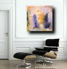 Prodotti > Modifica: quadro astratto moderno colore verde giallo per ...