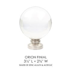 orion acrylic ball finials