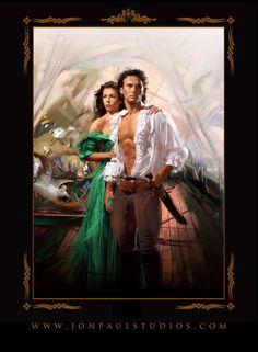 Romantic Art by Jon Paul Romance Novel Covers, Romance Art, Fantasy Romance, Romance Novels, Book Cover Art, Book Art, Book Covers, Historical Romance Books, Romantic Couples