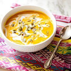 Curried Pumpkin and Butternut Squash Soup.