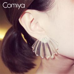 Aliexpress.com : Buy Comiya Fashion Punk Clear Shell Statement Dangle Earrings Brincos Jewelry Lady Big Drop Earring Allied Express Pendientes Bijoux from Reliable dangle drop earings suppliers on Comiya Official Store