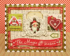 I made this card for Authentique with their wonderful Classic Christmas collection.