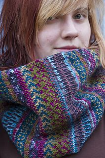 fair isle heart pattern cowl - Google Search