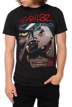 Gorillaz Faces T-Shirt | Hot Topic
