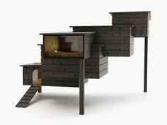 Modern chicken coop. @Carmen Gilchrist
