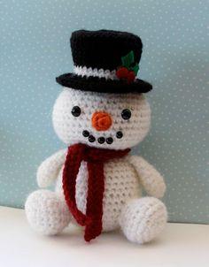 Patrón amigurumi Crochet - muñeco de nieve