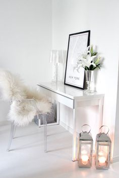 White scandinavian style home office Home Office Chairs, Home Office Decor, Home Decor, Office Ideas, Home Office Design, House Design, Scandinavian Style Home, Scandinavian Interior, Cheap Adirondack Chairs