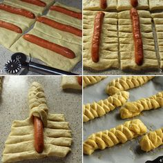 Frankfurters in braided dough Football Finger Foods, Whole Food Recipes, Cooking Recipes, Bread Shaping, Creative Food Art, Best Party Food, Cake Craft, Birthday Cakes For Men, Food Garnishes