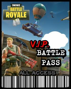 Fortnite V.I.P. Battle Pass Lanyard ID Badge ☆Only $12☆ ✔Delivery in 24 hours or less!⏱ ✔Digital File! Print as many as you'd like!! Order here! InvitationsByKasey.etsy.com